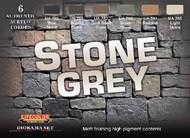 Life Color Paints  LifeColor 22ml Acrylic Stone Grey Diorama Acrylic Set LFCCS40
