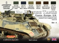 British Tanks France, Europe, UK 1936-45 Disruptive #2 Camouflage Acrylic Set #LFCCS44