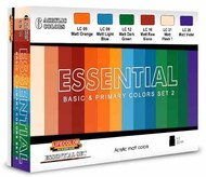Essential Basic & Primary Colors Acrylic Set #2 (6 22ml Bottles) #LFCES2