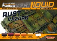Life Color Paints  LifeColor 22ml Acrylic Rust Wizard Weathering Liquid Pigments Set LFCLP2
