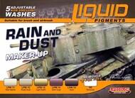 Life Color Paints  LifeColor 22ml Acrylic Rain & Dust Weathering Liquid Pigments Set LFCLP3