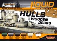 Life Color Paints  LifeColor 22ml Acrylic Hulls & Wooden Decks Ship Weathering Liquid Pigments Set LFCLP4