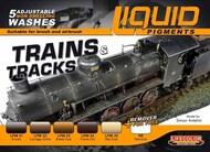 Life Color Paints  LifeColor 22ml Acrylic Trains & Tracks Railway Weathering Liquid Pigments Set LFCLP5
