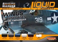 Life Color Paints  LifeColor 22ml Acrylic Wings & Fuselages Aircraft Weathering Liquid Pigments Set LFCLP6