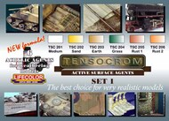Life Color Paints  LifeColor 22ml Acrylic Tensocrom Weathering #1 Acrylic Set LFCTSC1