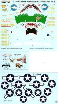North-American B-25C/D Mitchell Part 2 #LLD72040