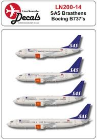 Lima November  1/200 SAS Braathens Boeing 737's LN20014