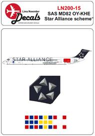 Lima November  1/200 SAS Star Alliance McDonnell-Douglas MD-80 LN20015