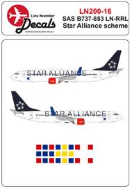 Lima November  1/200 SAS Star Alliance Boeing 737-800 LN-RRL LN20016
