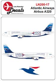 Lima November  1/200 Atlantic Airways Airbus A320 for the Hasegawa kit. LN20017