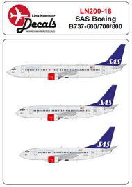 Lima November  1/200 SAS Boeing 737-600/737-700/737-800 for Hasegawa kits LN20018