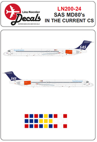 Lima November  1/200 SAS McDonnell-Douglas MD-81/MD-82/MD-83 in the current scheme LN20024