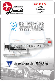 Lima November  1/144 DNL Junkers Ju.52/3m includes masks LN44572