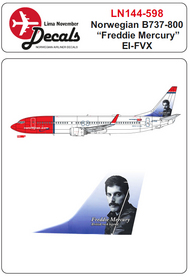 Norwegian Boeing 737-800 EI-HVX ' Freddie Mercury' #LN44598