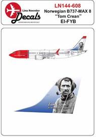 Norwegian Boeing 737 Max 8 EI-FYB 'Tom Crean' #LN44608