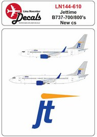 Jettime new colour scheme for the Boeing 737-700/737-800 #LN44610