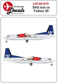 SAS new colour scheme Fokker 50 #LN44615