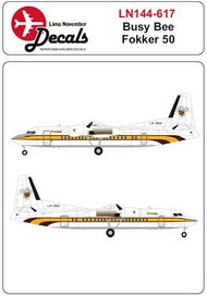 Busy Bee colour scheme Fokker 50 #LN44617