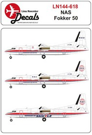 Norwegian Air Shuttle colour scheme Fokker 50 #LN44618