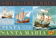 Lindberg  1/144 Ships of Columbus: Nina, Pinta & Santa Maria Sailing Ships (3 Kits)- Net Pricing LND223