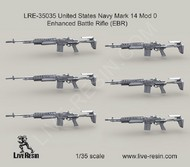 LIVE RESIN  1/35 US Navy Mk 14 Mod 0 Enhanced Battle Rifle (EBR) (6) (D)<!-- _Disc_ --> LRE35035