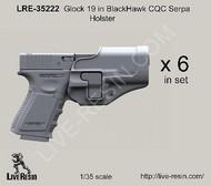 LIVE RESIN  1/35 Glock 19 Pistol w/Blackhawk CQC Serpa Holster (6) (D)<!-- _Disc_ --> LRE35222