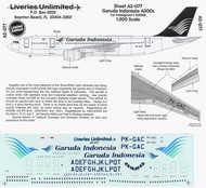 Liveries Unlimited  1/200 Airbus A300B GARUDA LU2077