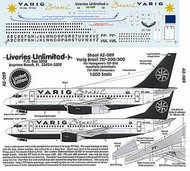 Liveries Unlimited  1/200 Boeing 737-200/737-300 VARIG 1998 PP-VNY etc LU2089