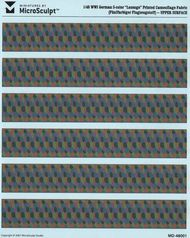 WWI German 5-Color Upper Lozenge Printed Camouflage Fabric (Re-Issue) #MSC48001