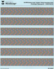 WWI German 4-Color Lower Lozenge Printed Camouflage Fabric (Re-Issue) #MSC48005