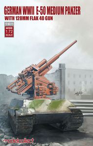E-50 medium panzer with 128mm flak 40 gun German WWII #MDO72099