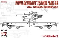 WWII Germany 128mm Flak 40 Anti-Aircraft Railway Car #MDO72118