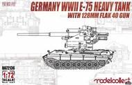 WW2 E-75 Heavy Tank with 128mm Flak 40 Gun #MDO72136