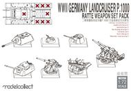 WWII Germany Landcruiser P.1000 Ratte Weapon Set Pack #MDO72150