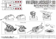 Modelcollect  1/72 WWII Germany landcruiser p.1000 ratte weapon set pack II MDO72310