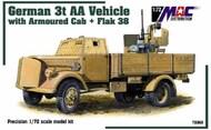 German 3-Ton Opel Blitz AA Truck w/Armoured Cab & Flak 38 Gun #MAC72069
