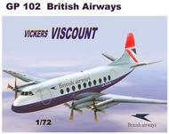 Vickers Viscount 700 with decals for British Airways #MACHGP102