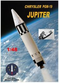 Mac Models  1/48 PGM19 Jupiter USDAF Medium Range Ballistic Missile (15' Tall) MACLO25
