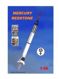 Mac Models  1/48 Mercury Spacecraft w/Redstone Booster MACLO30