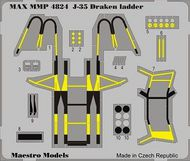 Maestro Models  1/48 Saab J-35F ladder (Eduards old ladder set, now in color etch) (designed to be used with Hasegawa kits) MMMP4824