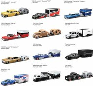 Maisto  1/64 Design Tow & Go Assortment: Various Cars & Different Style Trailers (6 Total) MAI15368
