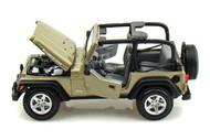 Maisto  1/27 Jeep Wrangler Rubicon (Tan) (D) MAI31245TAN