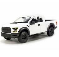 Maisto  1/24 2017 Ford F150 Raptor Pickup Truck (White) MAI31266WHT