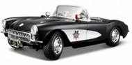 Maisto  1/18 1957 Corvette Police Car (Black/White) MAI31380WTB