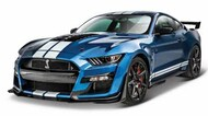 Maisto  1/18 2020 Ford Mustang Shelby GT500 (Blue w/White Stripe) MAI31388BLU