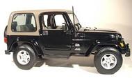 Maisto  1/18 Jeep Wrangler Sahara Hardtop (Black) MAI31662BLK