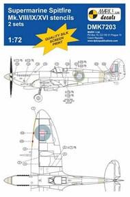 Supermarine Spitfire Mk.VIII/Mk.IXe/Mk.XVI stencils, 2 sets #DMK7203