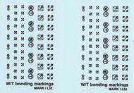 Mark 1 Decals  1/144 RAF/FAA Stencils, Pt.1, 2 sets W/T bonding markings, 2 styles 1/72 & 1/144 DMS01