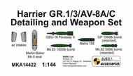 Bae Harrier GR.1/3/AV-8A/C Detailing and Weapon Set (resin parts) #MKA14422