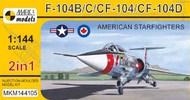 Lockheed F-104B/C/D/CF 'American Starfighters' (2in1) #MKM144105